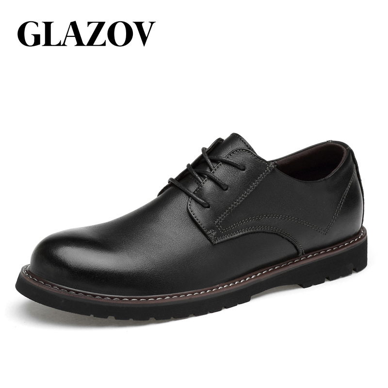 Genuine Leather Men Shoes Fashion Waterproof Oxford Shoes Man Breathable Sneakers British Style Flats Autumn Casual Shoes 36~48