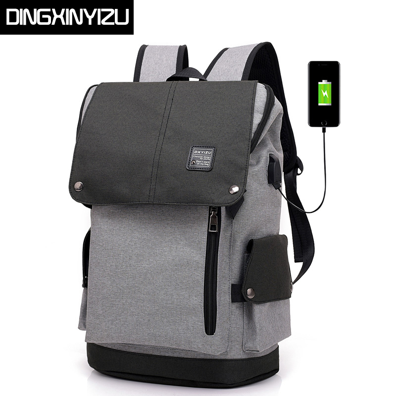 DINGXINYIZU Large Capacity 15.6 Inch Laptop Backpack Men USB Charging Bag Male Backpack for Teenagers School Bags Travel Mochila male backpack female backpack female school bag teenagers bag men laptop backpacks men s travel bags large capacity student bags