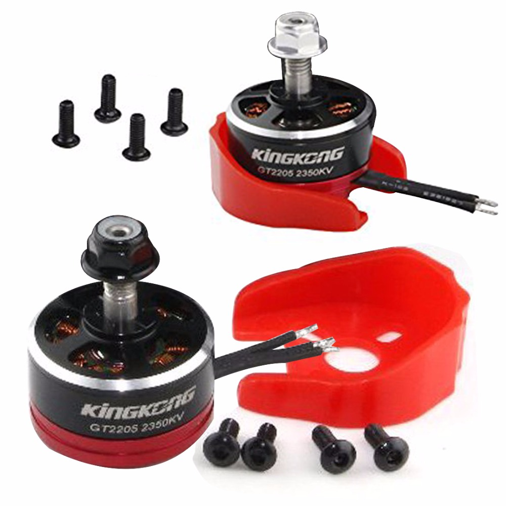 JMT GT2205 2350KV / 2700KV 2-4S CW / CCW Brushless Motor with Motor Protector Mount FPV RC Racing Drone Quadcopter F19995/8
