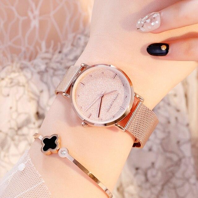 Women Watches Top Brand Luxury Japan Quartz Movement Stainless Steel Sliver White Dial Waterproof Wristwatches relogio feminino 4