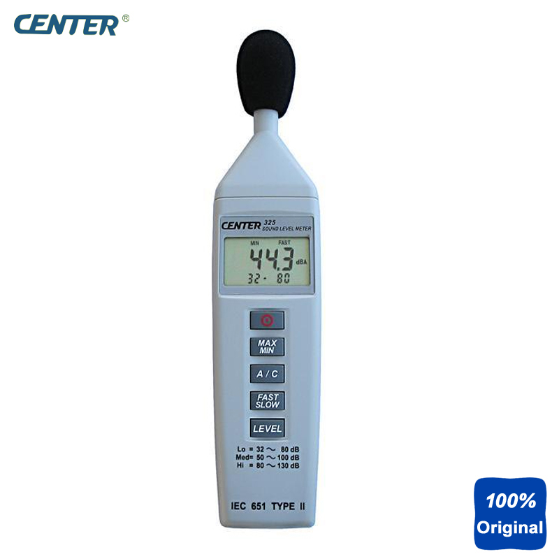 US $129 72 6% OFF|Compact Sound Level Meter Noise Level Tester Resolution  0 1dB CENTER 325-in Sound Level Meters from Tools on Aliexpress com |