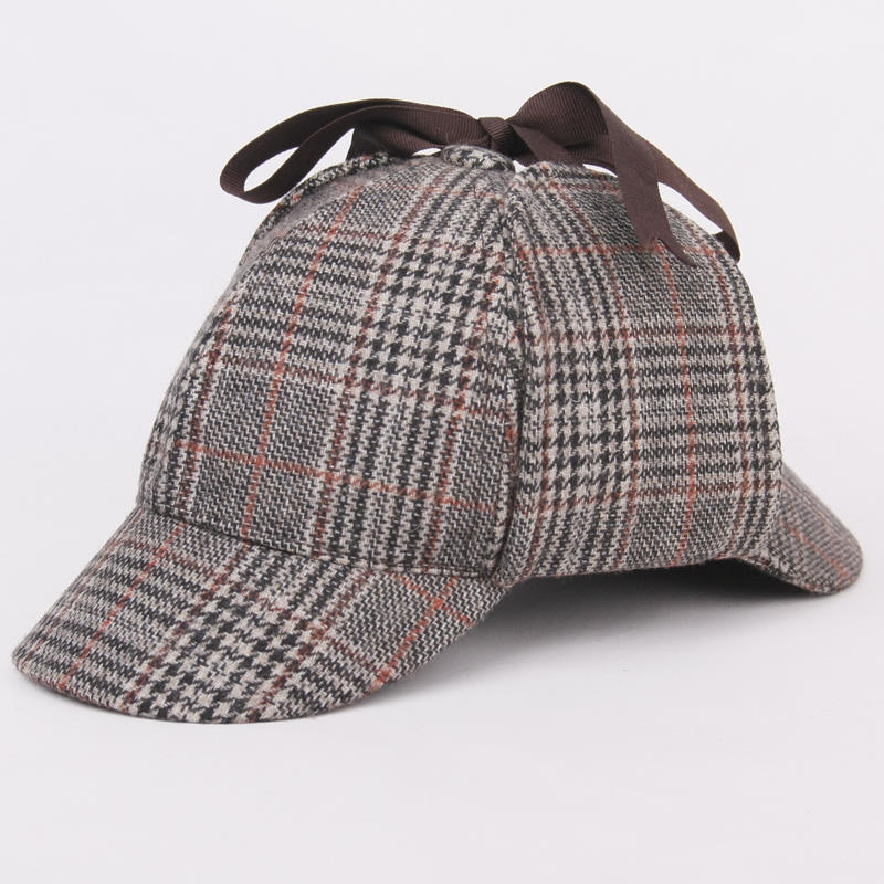 SHOWERSMILE Sherlock Holmes Hat Unisex Winter Wool Berets For Men - Kläder tillbehör - Foto 5