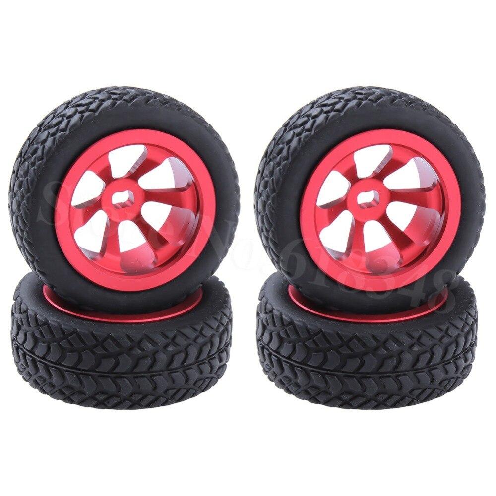 RC Upgrade Parts Aluminum Tires & Wheels (Al.) For WLtoys 1/28 RC Car K969 K989 K999 P929 4WD Short Course Drift Off Road Rally