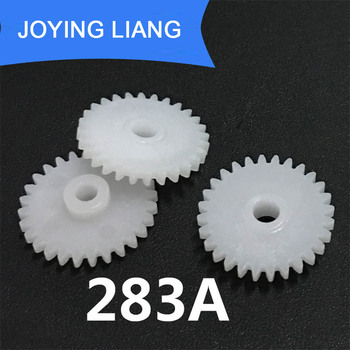 283A 0.5M 28 Teeth 3mm Shaft Tight Pom Plastic Pinion Gear Toy Model Gear (5000pcs/lot)