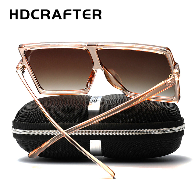 eef07560752 HDCRAFTER 2018 Newest Women Shades square Oversized Sunglasses Brand  Designer Sun Glasses For Female Ladies Eyewear