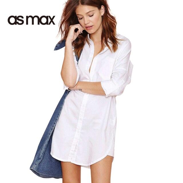 Asmax 4 Цвета Blusas Женщины Блузка Рубашка Негабаритных Длинный Рукав Белый Плюс Размер Camisas Femininas Топы Случайные Свободные Длинные Блузы