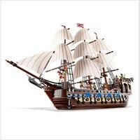 Lepin 22001 Pirates Of The Caribbean Ship Imperial Warships Model Building Kits Block Briks Toys