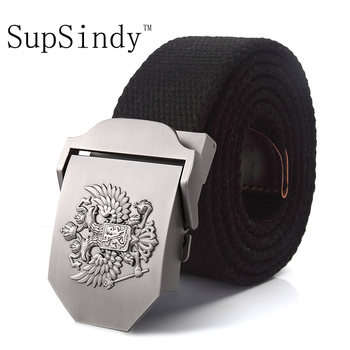 Alloy buckle military men Belts