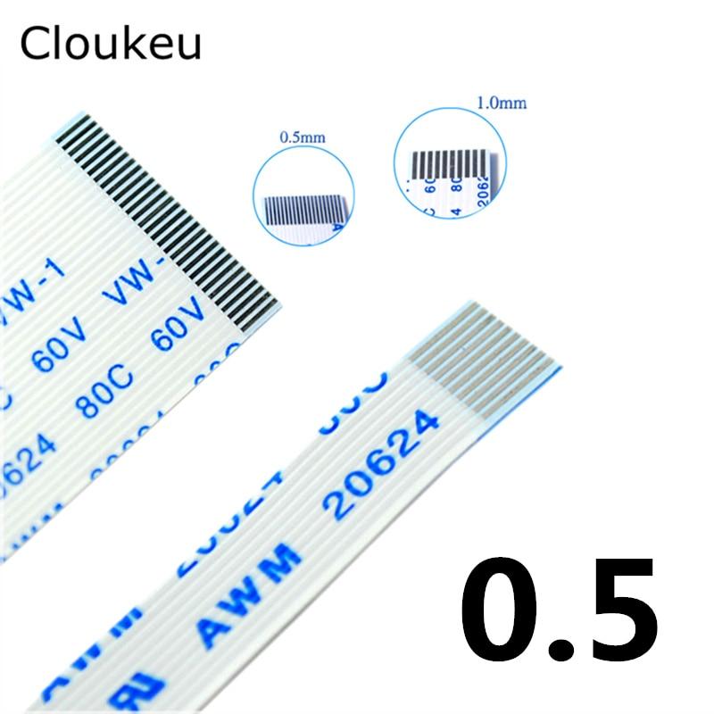 10Pcs FPC Flexible Flat Cable FFC 0.5MM 150MM AB interface 4P 6P 8P 10P 12P 14P 16P 18P 20P 24P 26P 30P 32P 34P 40P 50P 60P 15cm