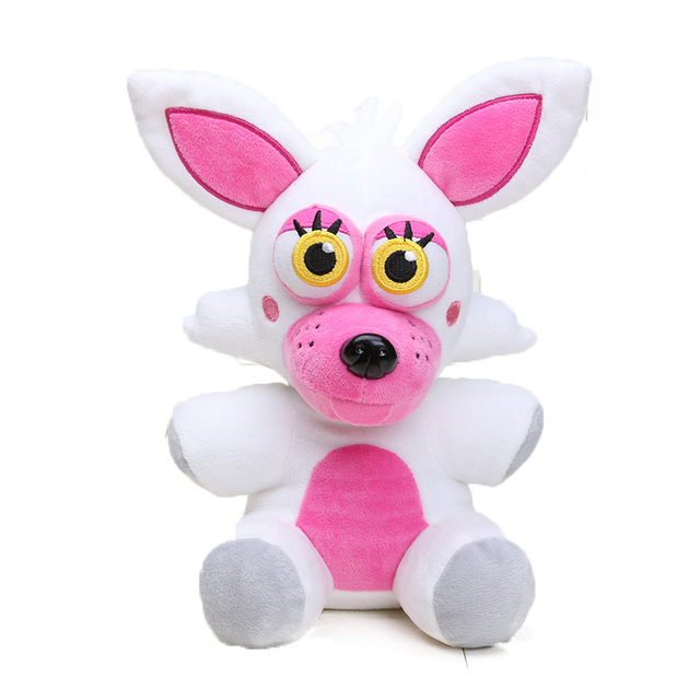 25cm Freddy Fazbear Plush Toys Golden Bear Nightmare Cupcake Foxy Balloon Boy Clown Stuffed Dolls 2