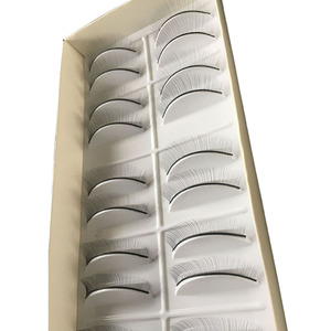 Image 2 - 10 Pairs Professional Practice Self Adhesive Training Beginner False Eyelash Extensions Natural Makeup Supplies Individual Strip