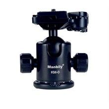 Профессиональная шаровая головка Manbily для камеры, шаровая головка для штатива, панорамная головка, раздвижная рельсовая головка w Manfrotto 200PL 14, зажим и пластина KM0