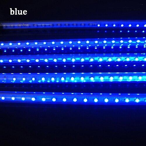 Новогодний 20 см 30 см 50 см наружный Метеоритный Дождь 8 трубок светодиодный струнный фонарь Водонепроницаемый для украшения рождественской свадебной вечеринки - Испускаемый цвет: blue