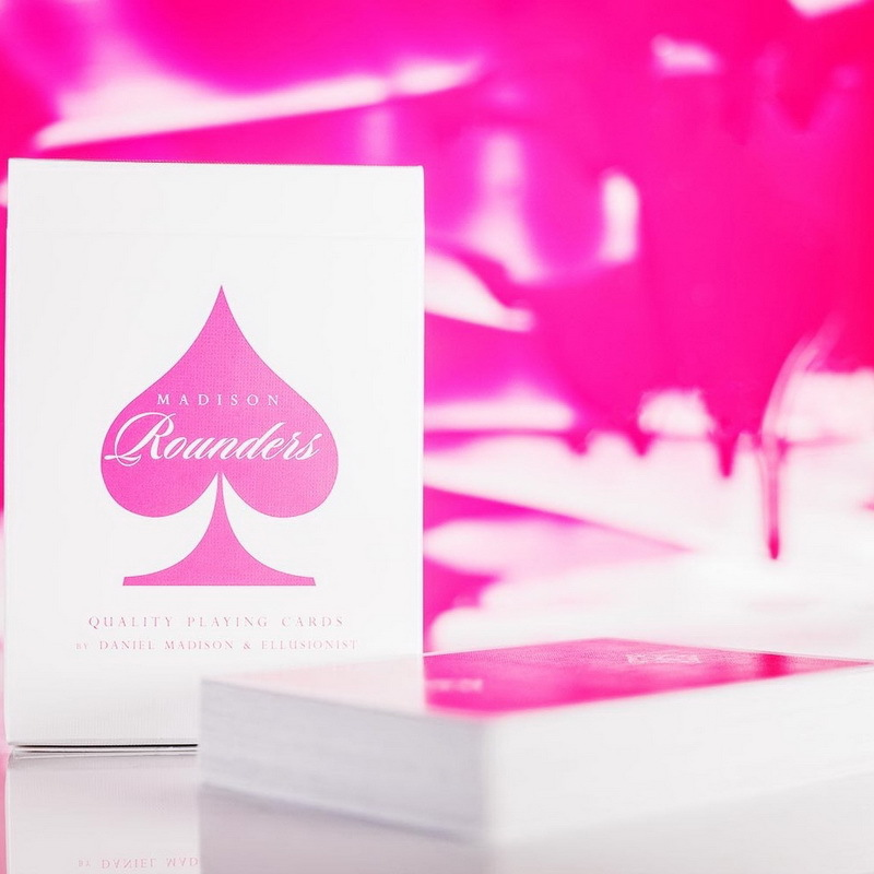 Ellusionist Pink Madison Rounders Playing Cards USPCC Limited Edition Deck by Daniel Madison Magic Card Poker Magic Tricks Props