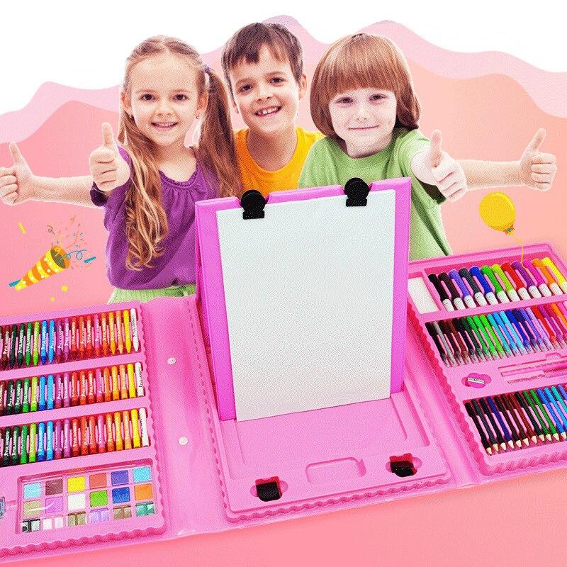 208pcs Art Set Children Painting Set Artist Kit Painting Art Marker Pen Drawing Brush Pens For