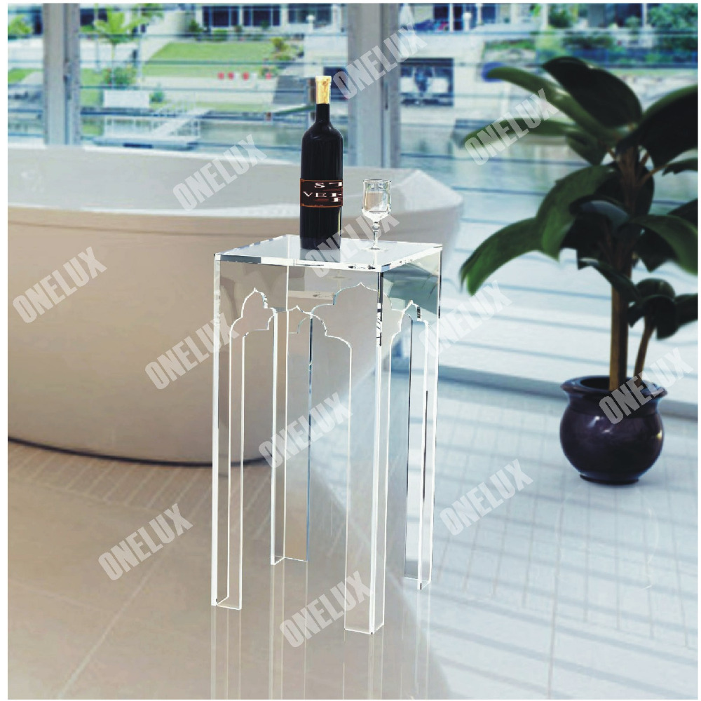 ONE LUX Plexiglass Contemporary bathroom side table,Lucite End Sofa Ocassional Tables one lux acrylic occasional sofa end z table lucite plexiglass small coffee tea magazine tables various colors