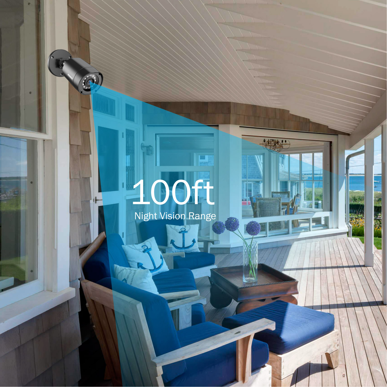 ANÃO 2MP IP66 4PCS 1080P Câmeras de Vigilância À Prova D' Água Ao Ar Livre Indoor CCTV Camera Kit 30m Night Vision com inteligente IR Cam - 3