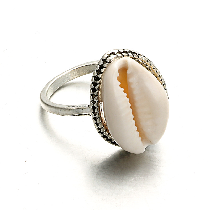 Jewelry Ring-Set Knuckle-Rings Sea-Shell Cool Boho Fashion Women Gift Silver-Plated Beach