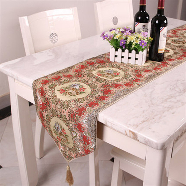 Chinese Style Embroidered Jacquard Tv Table Runner Elegant Party Wedding Home Decoration Bed Sofa Cloth Modern
