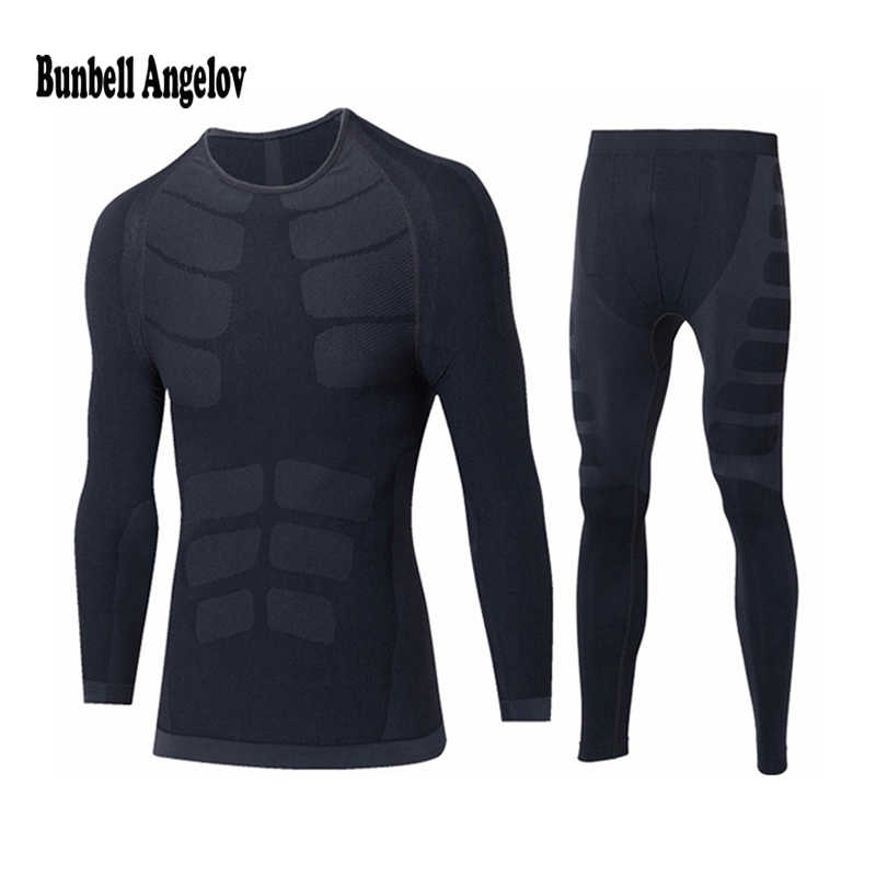 Hiver sous-vêtement thermique ensembles hommes séchage rapide o-cou Stretch hommes Thermo sous-vêtements mâle chaud Thermo Long Johns ensemble
