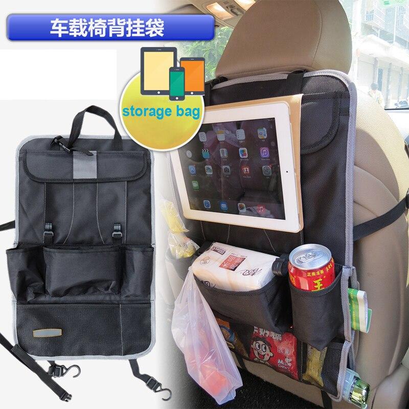 LARATH Auto Back Seat Organizer Holder Multi-Pocket Travel Storage Hanging Bag diaper bag baby kids car seat ipad hanging bag