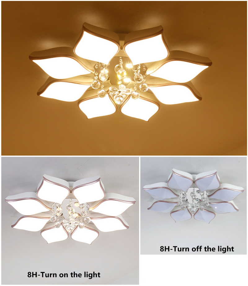 Back To Search Resultslights & Lighting Led Ceiling Lamp Living Room Round Crystal Lamp Petal Shape Ceiling Fan Light Simple Modern Bedroom Lamp Led Panel Light Ceiling Lights & Fans