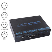 New HDMI to HDMI  Audio Extractor Converter Adapter SPDIF + R/L 4K ARC EDID Setting Audio Extractor 4K*2K  GDeals
