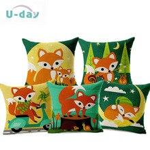 Симпатичные фокс декоративные подушки/подушка/almofadas старинных/cojines decorativos/подушки домашнего декора