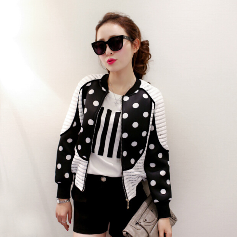 2015 Latest Fashion Female Baseball Jacket Women Patchwork Bomber ...