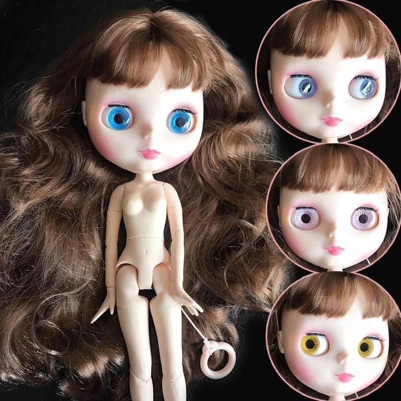 Nude Doll Big wavy curly hair Blyth Doll Joint Body DIY Nude BJD toys Fashion 1/6 Dolls 19 Joints Movable toy for GirlNude Doll Big wavy curly hair Blyth Doll Joint Body DIY Nude BJD toys Fashion 1/6 Dolls 19 Joints Movable toy for Girl
