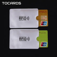 10pcs/lot RFID Blocking Reader Lock Credit Card Holder ID Bank Card Case Fashion Plastic Bus CardHolder for Men Women Cheap(China)