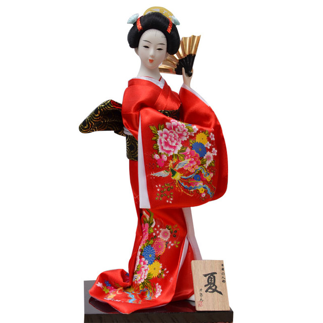 Tatami jepang Boneka Geisha Kimono Boneka Home Furnishing Resin Patung  Dekorasi rumah liren 198b0921f0