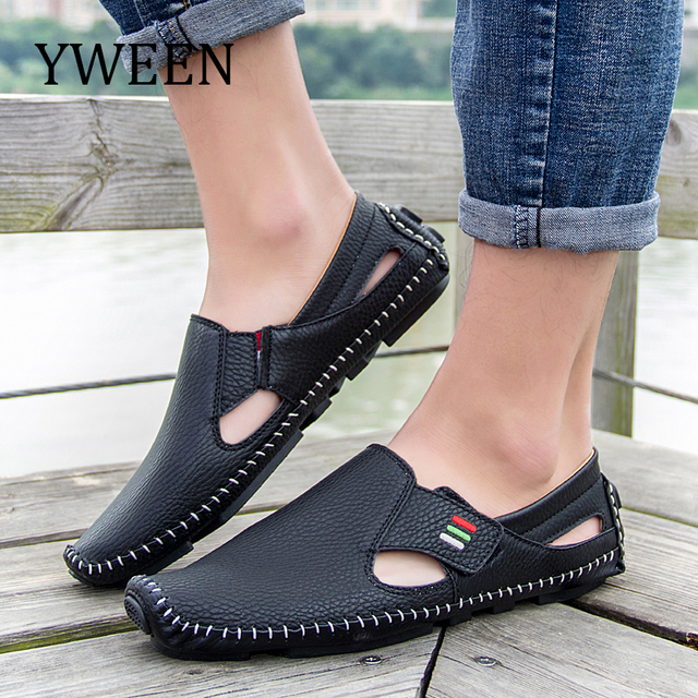 YWEEN New Leather Mens Shoes Spring Autumn Breath Men Luxury Driving Shoes  Slip On Men Loafers Size Eur38-eur46 80935cb0d261