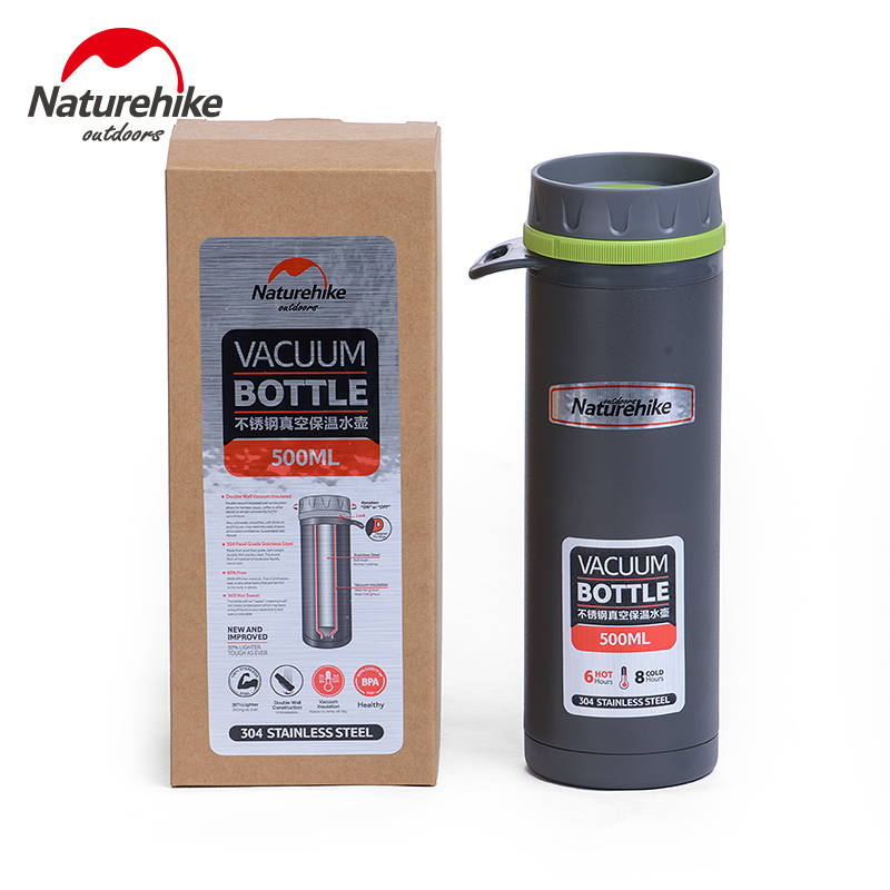 NatureHike 500ml Sport Bottle Stainless Steel Coffee Thermos Cups Mugs Thermal Bottle Thermo Cup Tumbler Vacuum Flask a07 stainless steel vacuum flask bottle cup blue silver 300ml