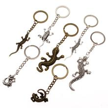 New Fashion Keyholder Snake Reptile Keychain Gecko Key Chain Ring Handmade DIY Men Jewelry Bag Charm Gift For Boyfriend