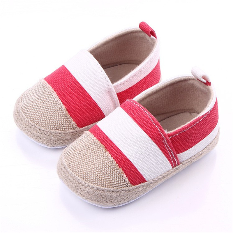 Striped Baby Shoes Newborn First Walkers Toddler Sneakers Soft Sole Non-Slip Crib Baby Boy Girl Cute Shoes 0-18M Wholesale