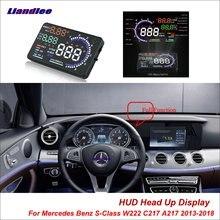 купить Liandlee For Mercedes Benz S-Class W222 C217 A217 2013-2018 Safe Driving Screen OBD Car HUD Head Up Display Projector Windshield дешево