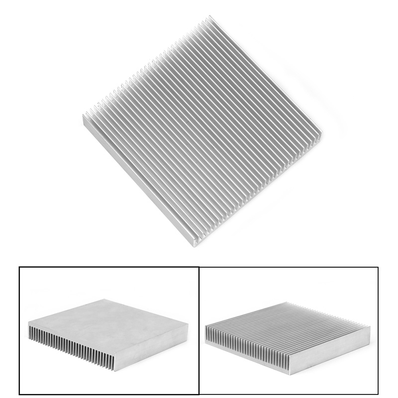 Aluminum Cooler Heat Sink Radiator Heatsink for computer PC IC LED Electronic Chipset  90 x 90x 15mm 10pcs lot ultra small gvoove pure copper pure for ram memory ic chip heat sink 7 7 4mm electronic radiator 3m468mp thermal