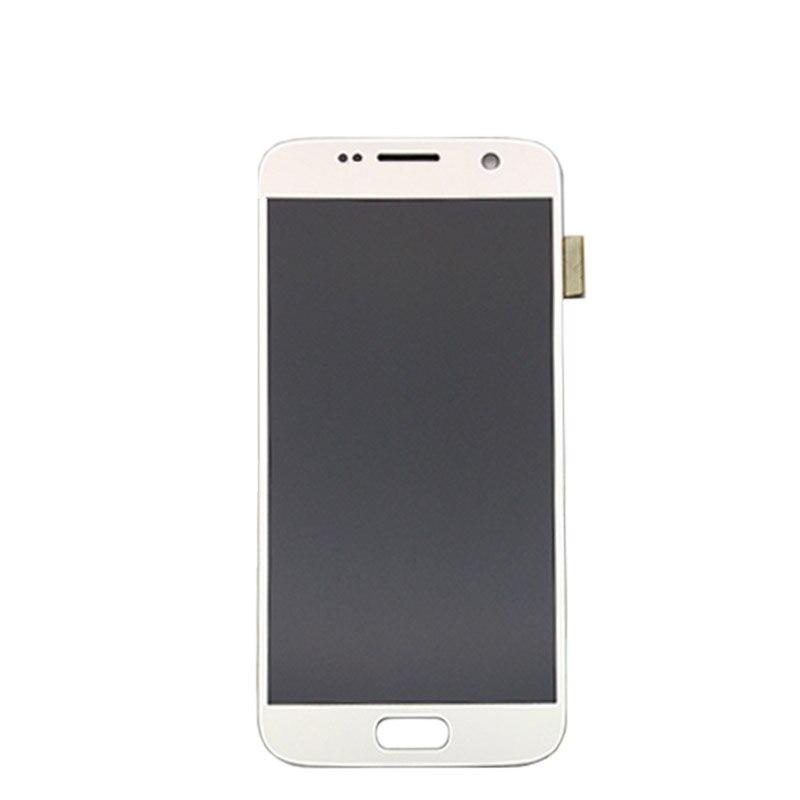 5.1 ''SUPER AMOLED remplacement LCD pas de cadre pour SAMSUNG Galaxy S7 affichage G930 G930F écran tactile numériseur - 3