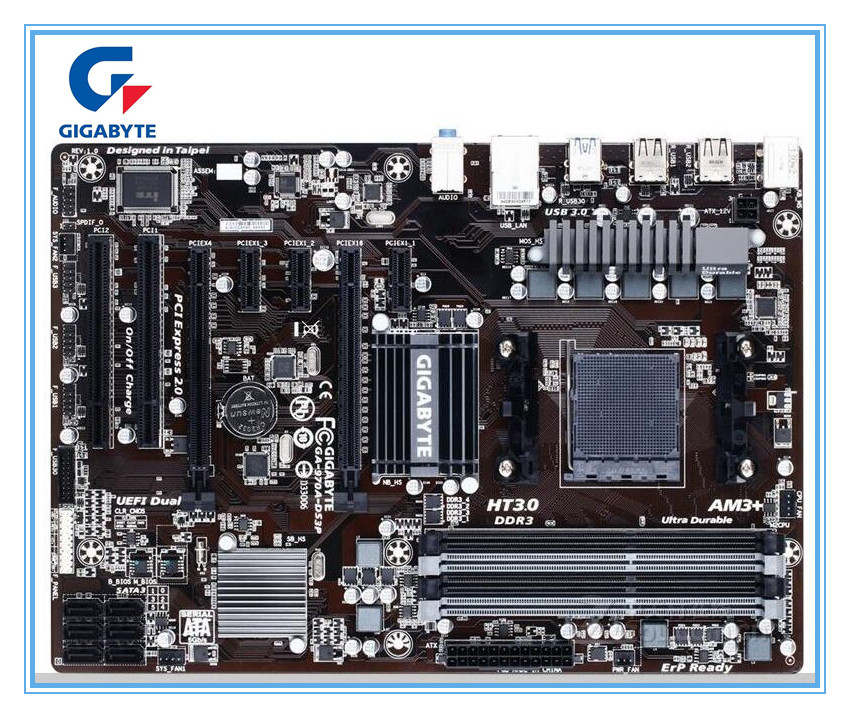 Gigabyte carte mère originale GA-970A-DS3P cartes Socket AM3/AM3 + DDR3 970A-DS3P cartes 32GB 970 carte mère de bureau