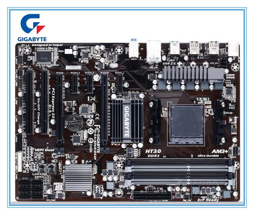 Gigabyte original motherboard GA-970A-DS3P boards Socket AM3/AM3+ DDR3 970A-DS3P boards 32GB 970 Desktop Motherboard mainboard
