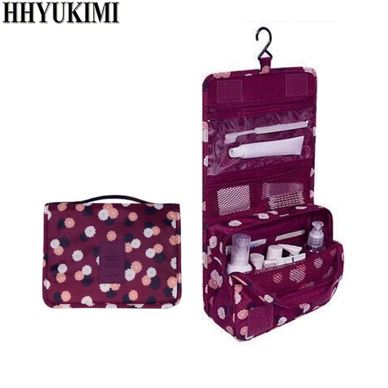 HHYUKIMI Brand Hanging Cosmetic Bag Beauty Makeup Bag Women Travel Portable  Cosmetics Organizer Men Bath Waterproof 77a96b9e6ebef