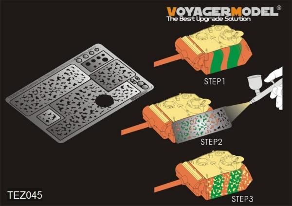 RealTS 1/35 New Voyager TEZ045 German AFV Disc pattern camouflage masking stencil