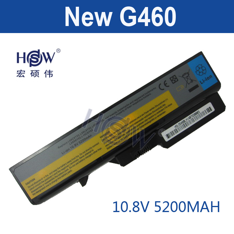 HSW 5200MAH NEW 6cells Laptop Batteries for lenovo G460 BATTERY G470 Z460 Z470 G560 V360 Z560 V560 E47 Z370 Z465 B570 B575 V470 new genuine 14 4v 5200mah 74wh 8 cells a42 g55 notebook li ion battery pack for asus g55 g55v g55vm g55vw laptop