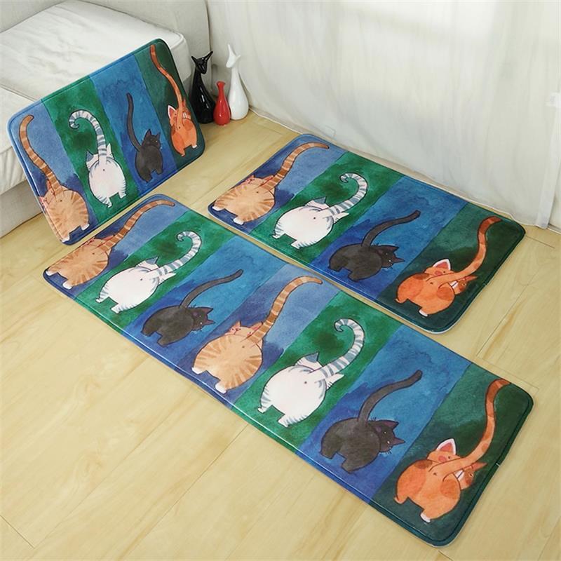 3 taille un ensemble bande dessinée bout à bout tapis de cuisine accueil entrée/couloir tapis anti-dérapant salle de bain tapis enfants chambre tapis