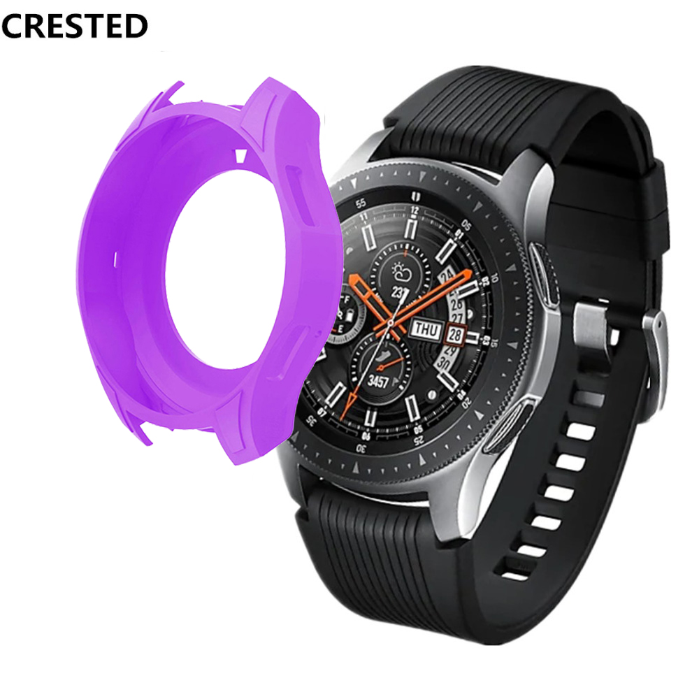 CRESTED Protective Case For Samsung Galaxy Watch 46mm/Gear S3 Frontier case Silicone Protect Cover Shock-proof Watch Accessories