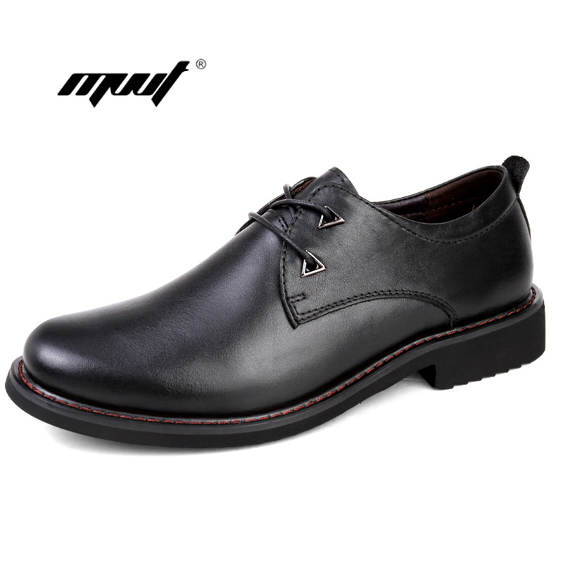 Genuine Leather Men Dress Shoes Luxury Men 39 s Business flats Shoes Classic Gentleman men leather Oxfords Shoes in Formal Shoes from Shoes
