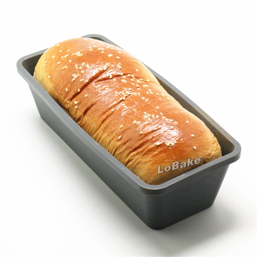 New arrivals 1300ml capacity rectangle shape toast mold silicone cake toaster box molds bread loaf maker for baking accessories Тостер