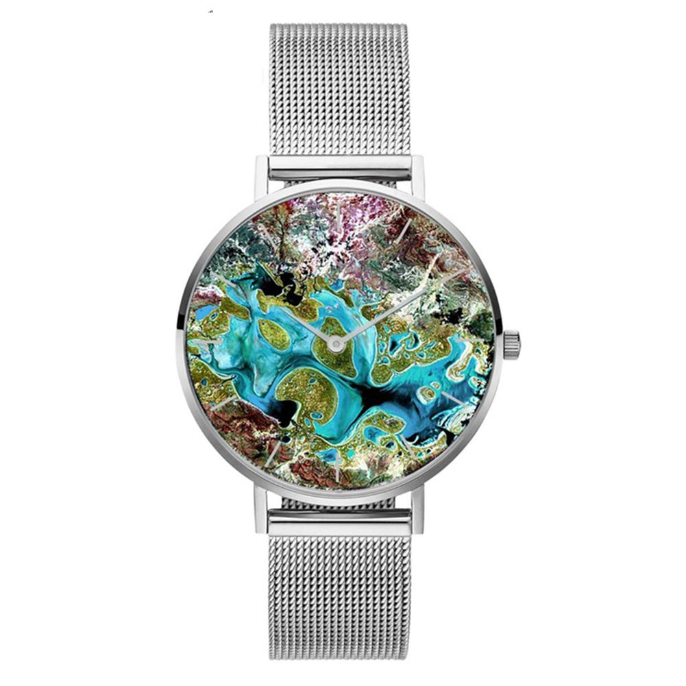 Fashion Rose Gold Creative Coral Shell Pattern Mesh Stainless Steel Band Women Casual Quartz Wrist Watch Gift Relogio Feminino