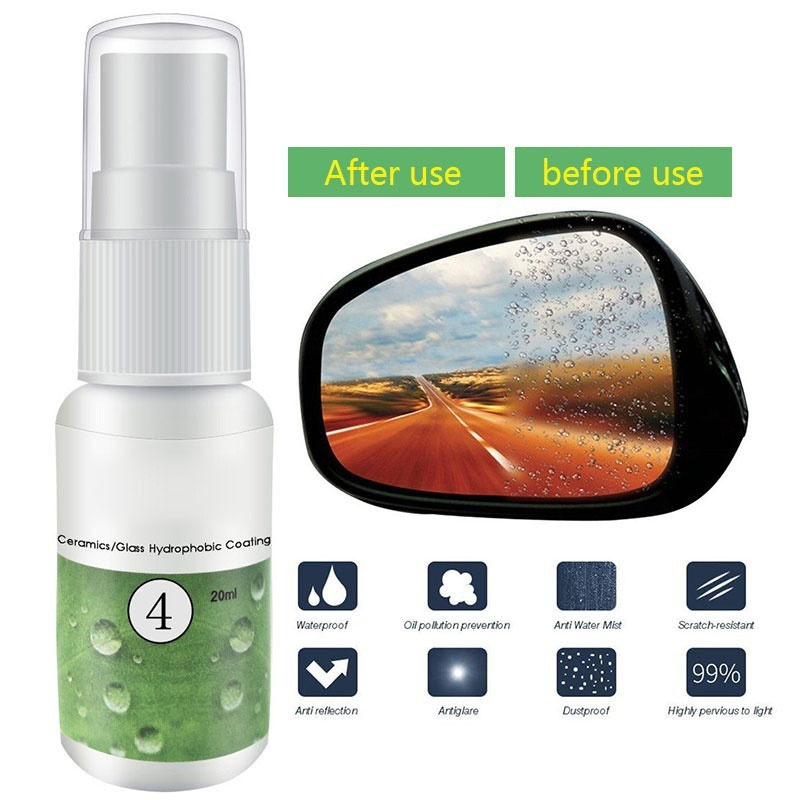 4-<font><b>20ml</b></font> <font><b>Car</b></font> Anti Rain Agent Multifunctional Ceramic/<font><b>Glass</b></font> <font><b>Nano</b></font> <font><b>Hydrophobic</b></font> Coating Windshield Rainproof Agent Spray OX image